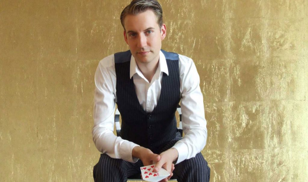 Magician Christopher Howell sits for blog