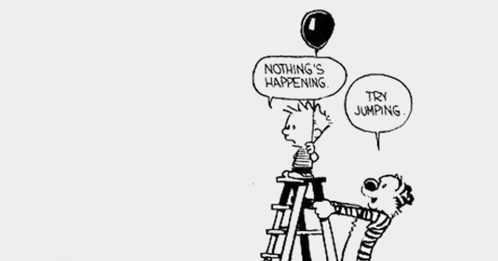 cartoon boy escapes comfort zone