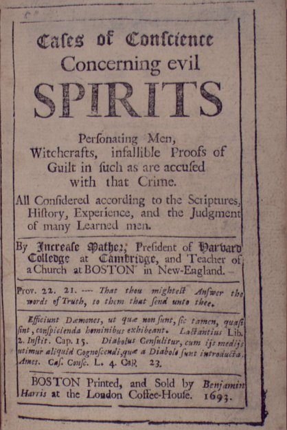 Witchcraft and spirits
