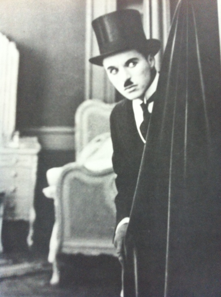 How did Charlie Chaplin calm his nerves before a performance?
