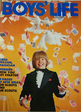 Young magician Greg Wilson on the cover of Boy's Life magazine.