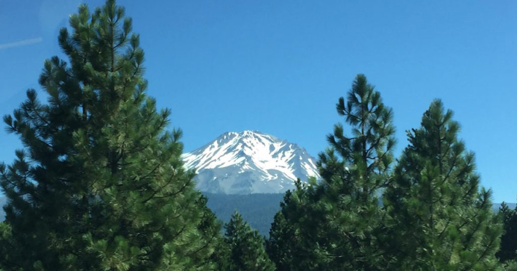 Mount Shasta enroute to a magic show