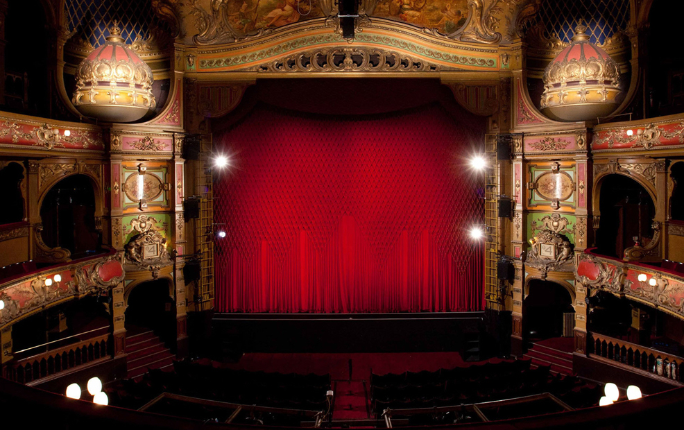 Hackney Empire stage photo from tour in theatre
