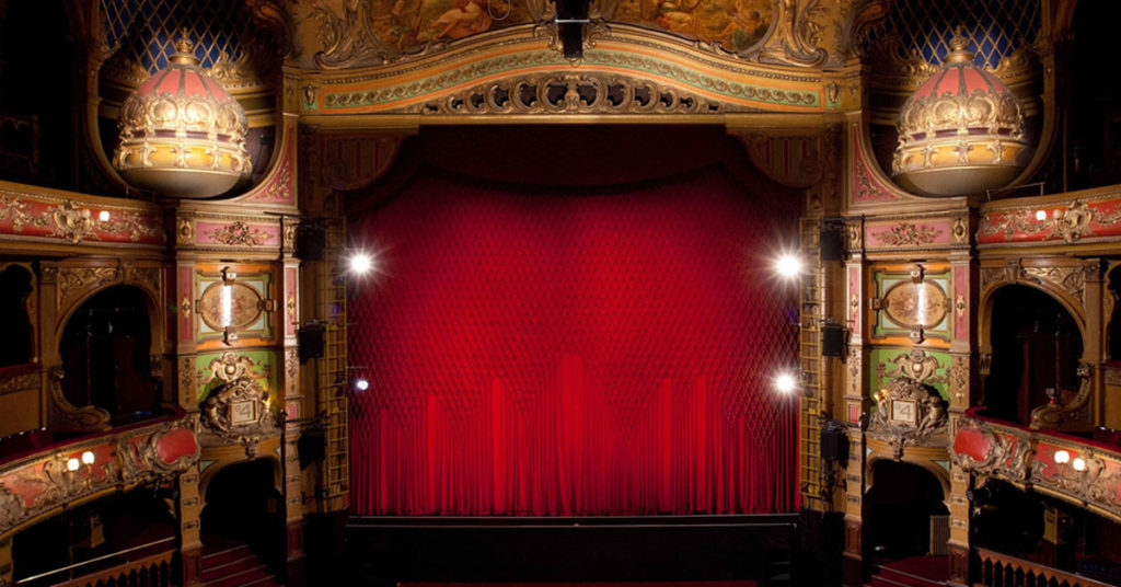 Hackney Empire tour proscenium shot