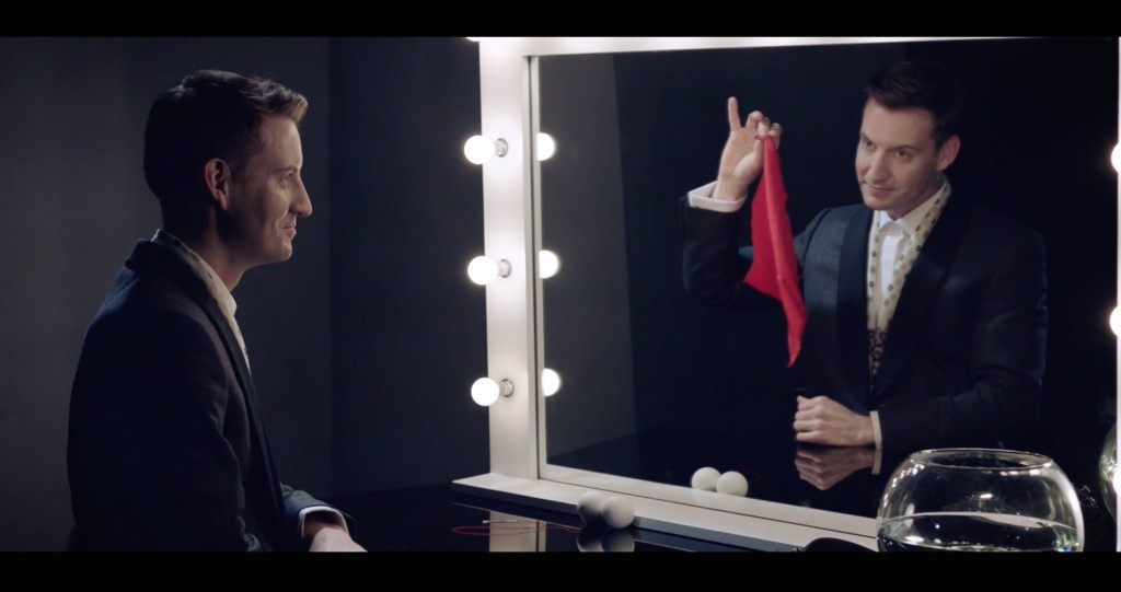 Short hanky trick in Canali film commercial