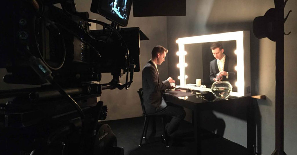 magician in short film for canali