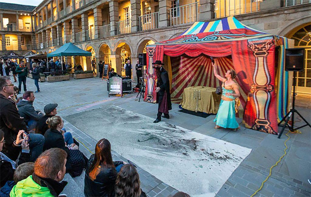 Magic act in street theatre blog