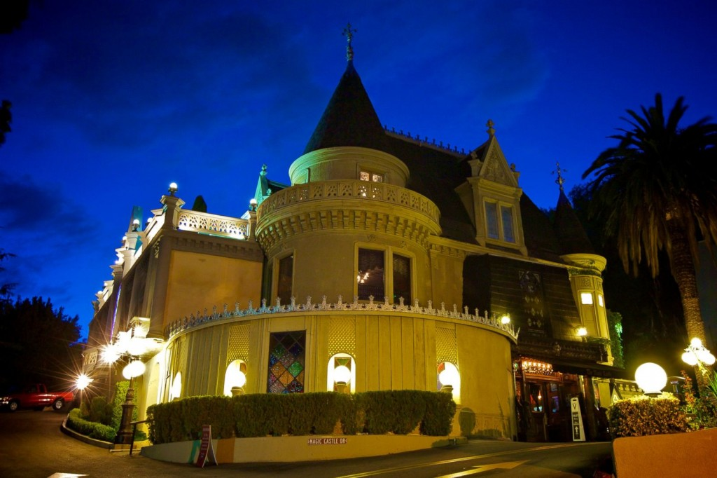 Exterior shot of the Home of The Magic Castle Magician