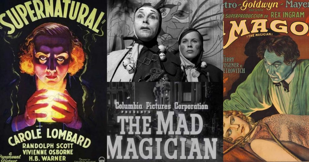 Old magic themed movie posters