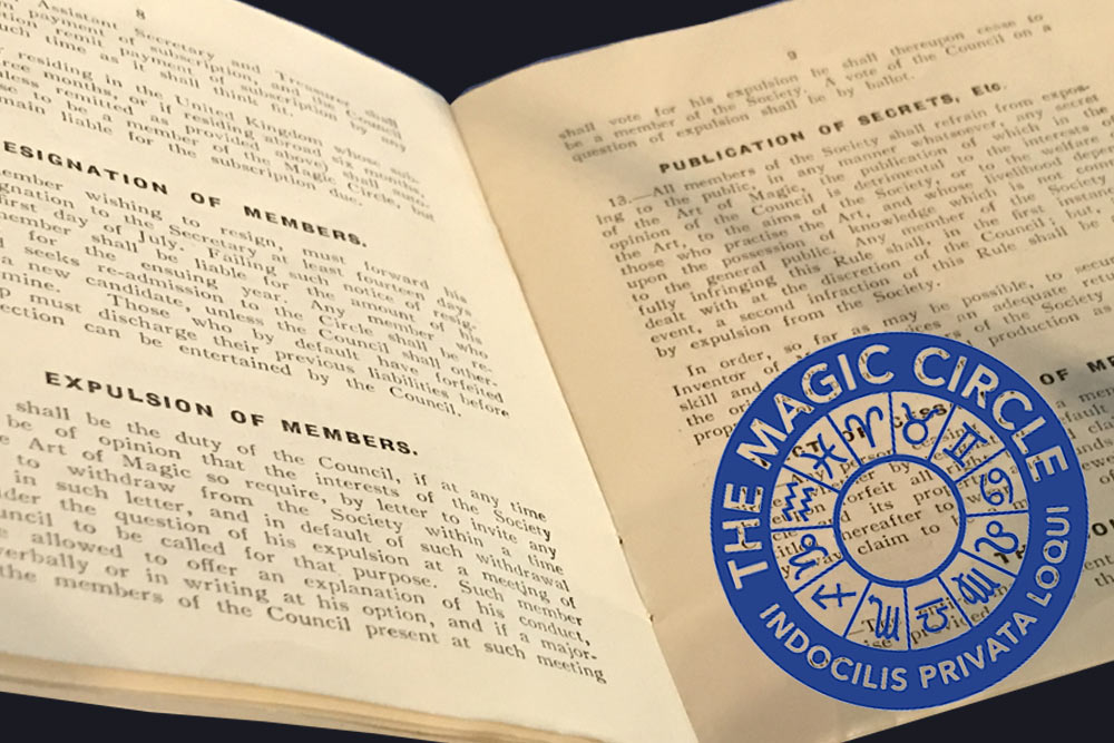magic circle magicians handbook from 1925