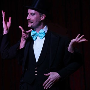 Stage magician Norvil in show for hire..