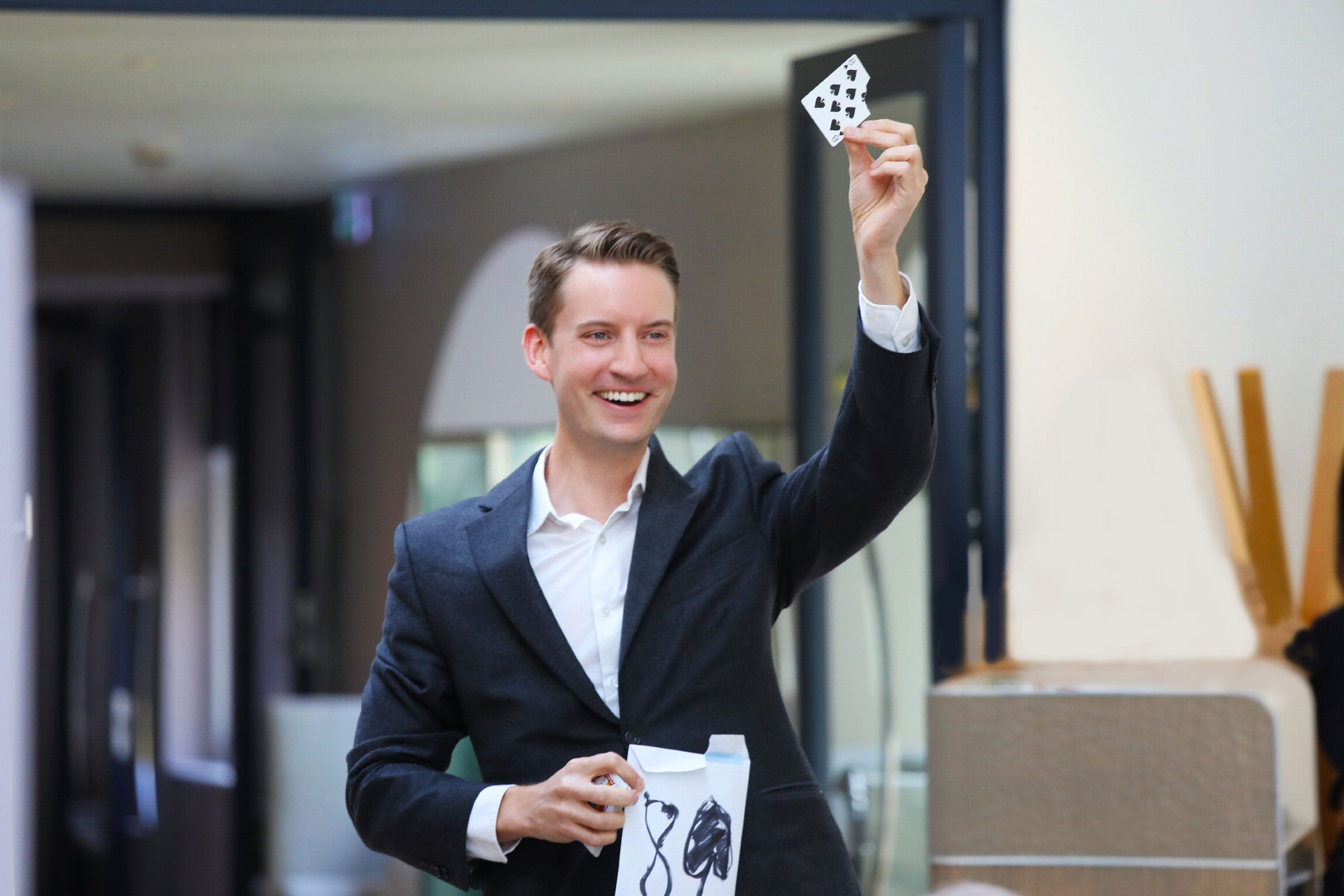 Magic show performance by magician Christopher Howell.