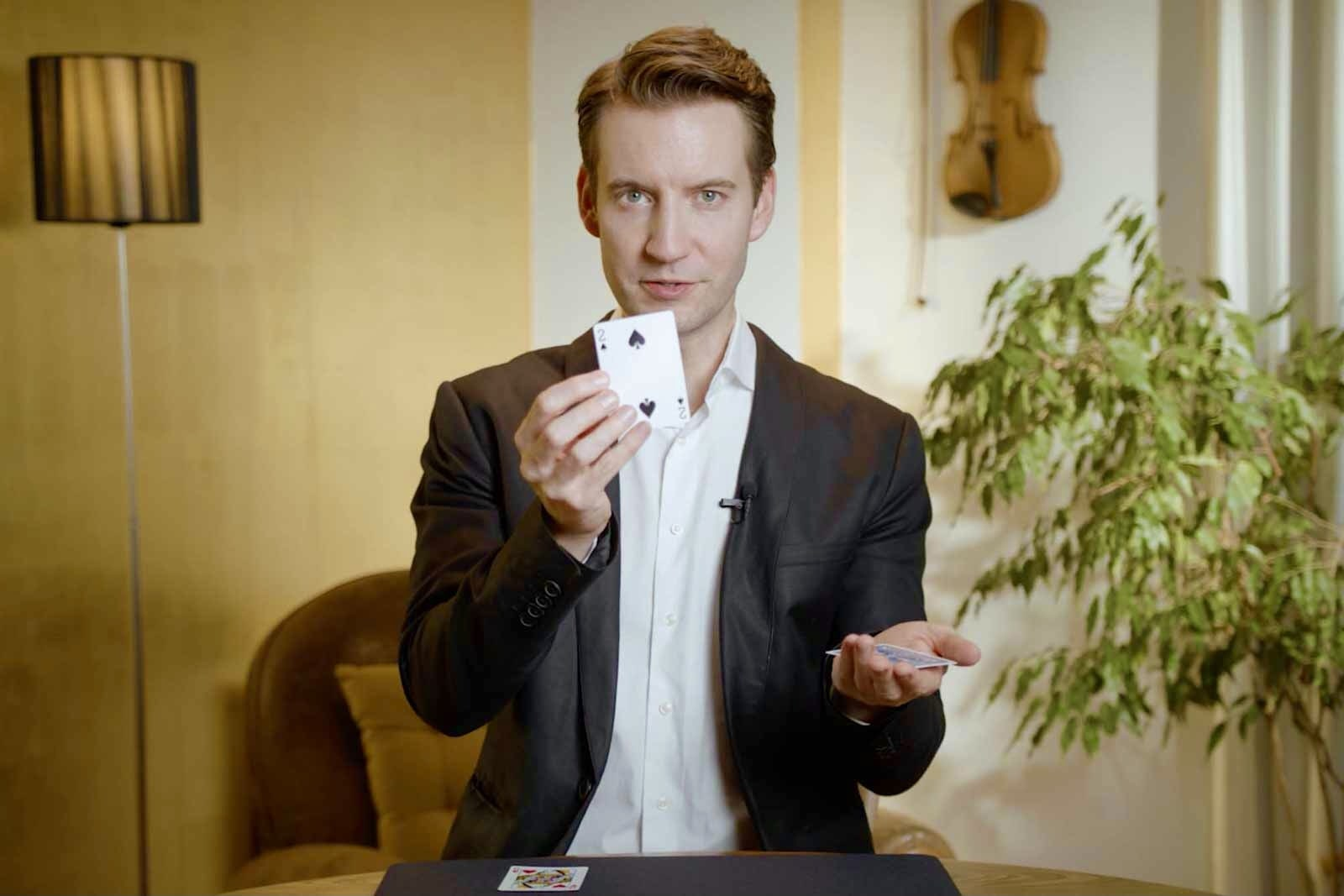 Christopher Howell magician performs his video magic show.